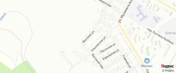 Высокая улица на карте Нефтекамска с номерами домов