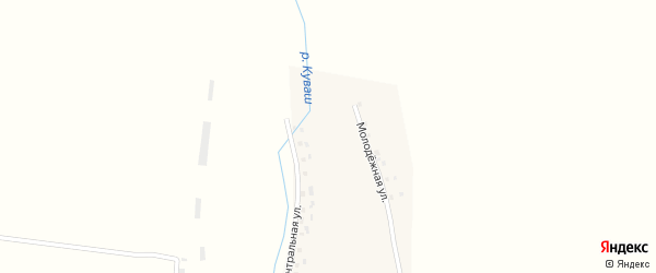 Центральная улица на карте деревни Папановки с номерами домов