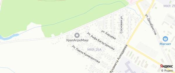Улица Гульслу Гаязовой на карте Нефтекамска с номерами домов
