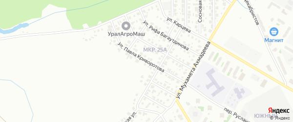 Улица Павла Криворотова на карте Нефтекамска с номерами домов