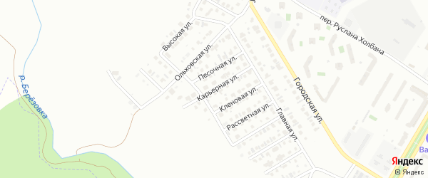 Карьерная улица на карте Нефтекамска с номерами домов