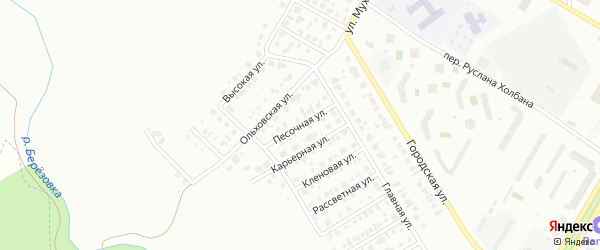 Песочная улица на карте Нефтекамска с номерами домов
