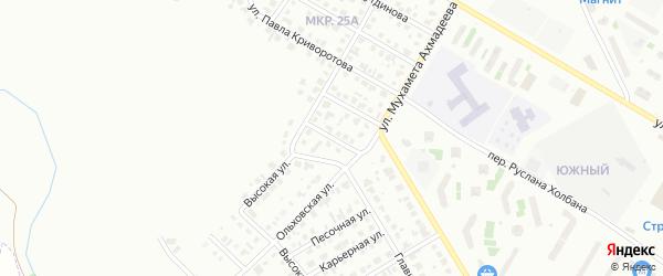 Ручейный переулок на карте Нефтекамска с номерами домов