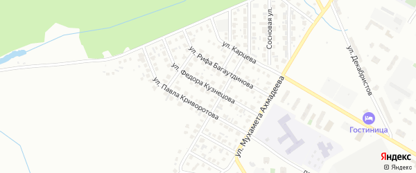 Улица Фёдора Кузнецова на карте Нефтекамска с номерами домов