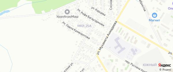 Улица Николая Князева на карте Нефтекамска с номерами домов