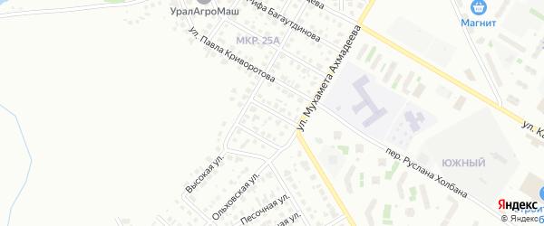 Хвойный переулок на карте Нефтекамска с номерами домов