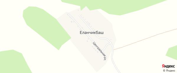 Центральная улица на карте деревни Еланчикбаша с номерами домов