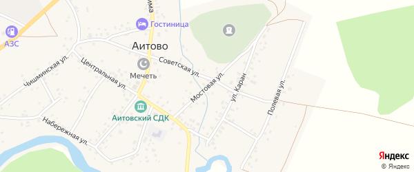 Мостовая улица на карте села Аитово с номерами домов