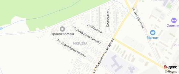Улица Рифа Багаутдинова на карте Нефтекамска с номерами домов