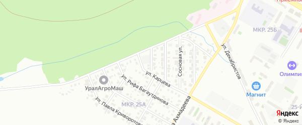 Малая Сосновая улица на карте Нефтекамска с номерами домов