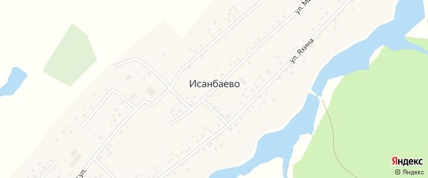 Улица Ф.Яхина на карте села Исанбаево с номерами домов