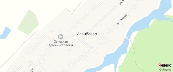 Школьная улица на карте села Исанбаево с номерами домов