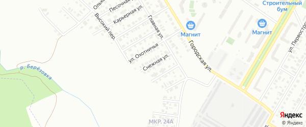 Снежная улица на карте Нефтекамска с номерами домов
