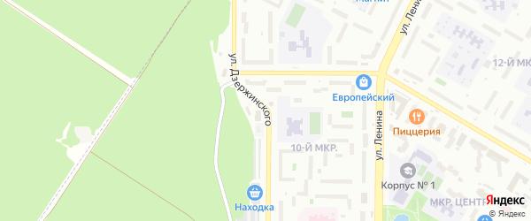 Улица Дзержинского на карте Нефтекамска с номерами домов
