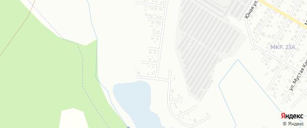 Заречный переулок на карте деревни Марино с номерами домов