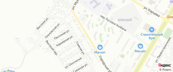 Городская улица на карте Нефтекамска с номерами домов