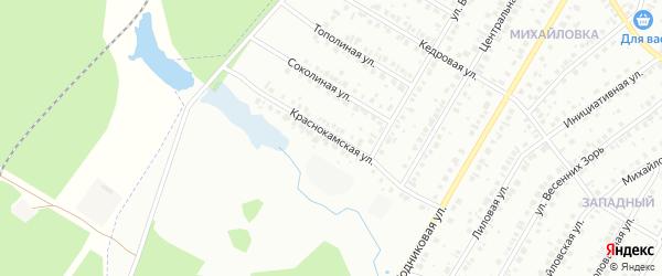 Краснокамская улица на карте Нефтекамска с номерами домов