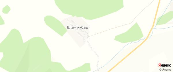 Карта деревни Еланчикбаша в Башкортостане с улицами и номерами домов