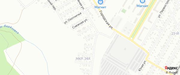 Городской переулок на карте Нефтекамска с номерами домов