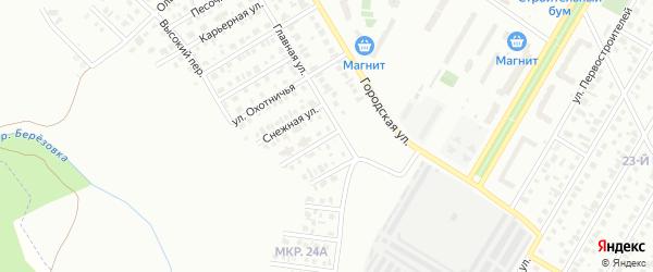 Снежный переулок на карте Нефтекамска с номерами домов