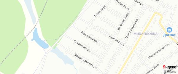 Тополиная улица на карте Нефтекамска с номерами домов