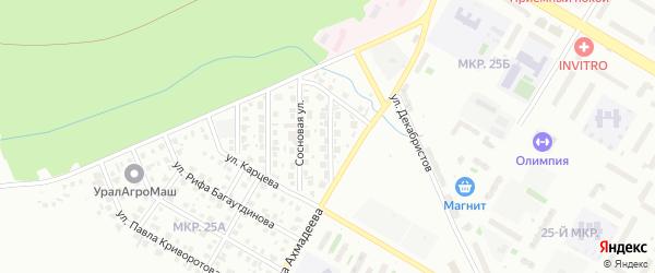 Улица Лесная Поляна на карте Нефтекамска с номерами домов