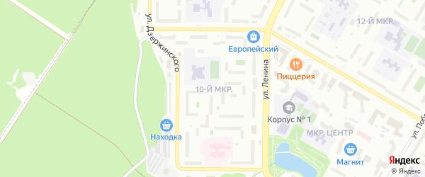 10-я улица на карте СНТ Родничка с номерами домов