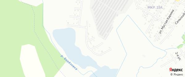 Рабочий переулок на карте Нефтекамска с номерами домов