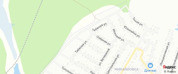Таежная улица на карте Нефтекамска с номерами домов