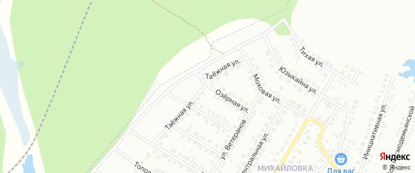 Озерная улица на карте Нефтекамска с номерами домов