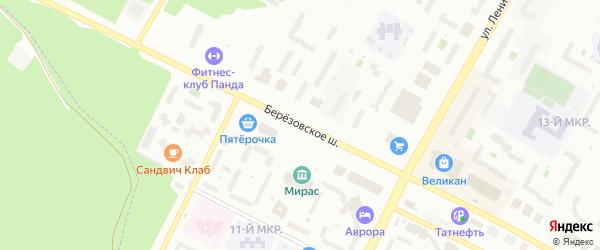 Березовское шоссе на карте Нефтекамска с номерами домов