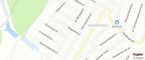 Кедровая улица на карте Нефтекамска с номерами домов