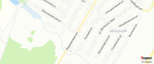 Родниковая улица на карте Нефтекамска с номерами домов
