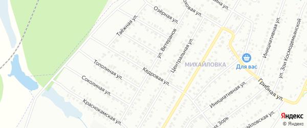 Улица Ветеранов на карте Нефтекамска с номерами домов