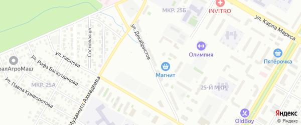 Улица Декабристов на карте Нефтекамска с номерами домов