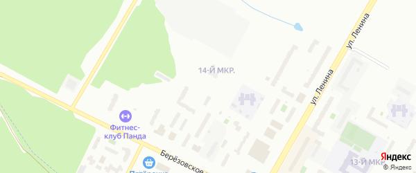 14-я улица на карте СНТ Восхода НГДУ с номерами домов