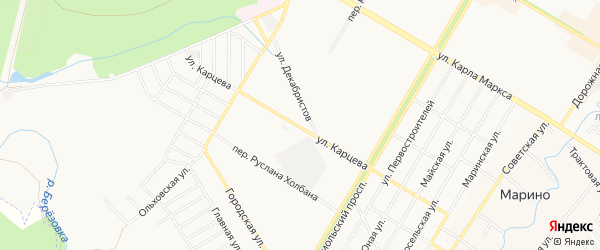 СНТ НАТП Южный на карте Нефтекамска с номерами домов