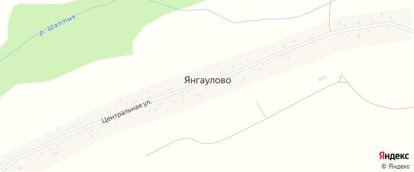 Центральная улица на карте села Янгаулово с номерами домов