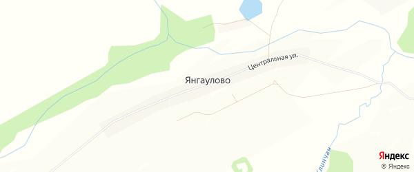 Карта села Янгаулово в Башкортостане с улицами и номерами домов