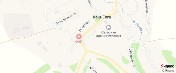 Интернатская улица на карте села Коша-Елги с номерами домов