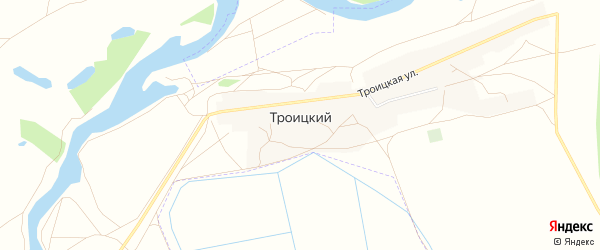 Карта Троицкого поселка города Оренбурга в Оренбургской области с улицами и номерами домов