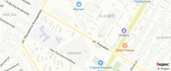 Улица Карцева на карте Нефтекамска с номерами домов
