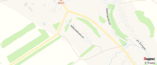Юбилейная улица на карте села Коша-Елги с номерами домов