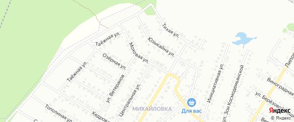 Моховая улица на карте Нефтекамска с номерами домов