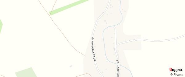 Николаевская улица на карте села Коша-Елги с номерами домов