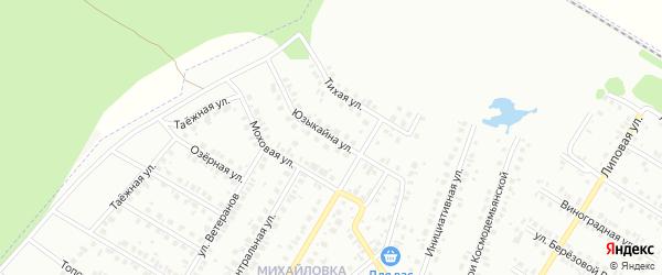 Улица Юзыкайна на карте Нефтекамска с номерами домов