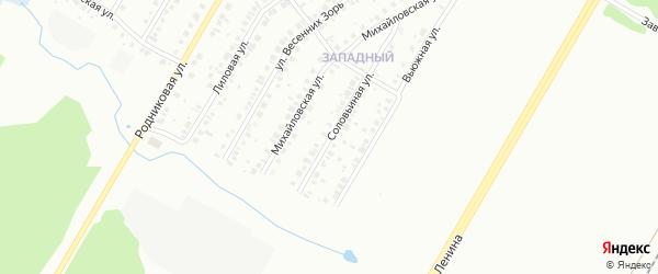 Соловьиная улица на карте Нефтекамска с номерами домов