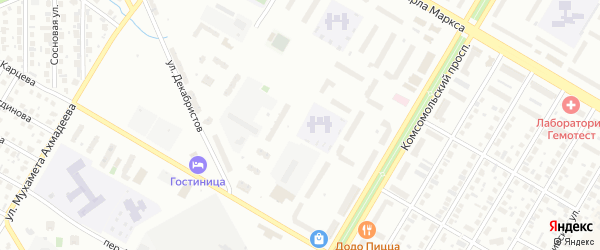 25-я улица на карте СНТ Восхода НГДУ с номерами домов