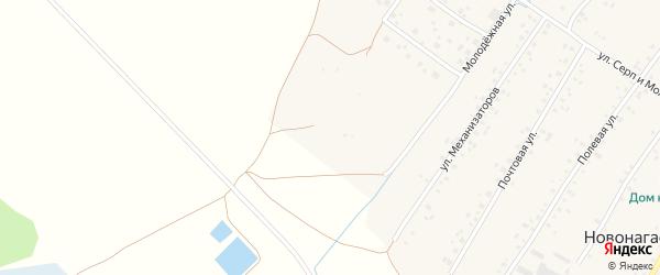 Луговая улица на карте села Новонагаево с номерами домов