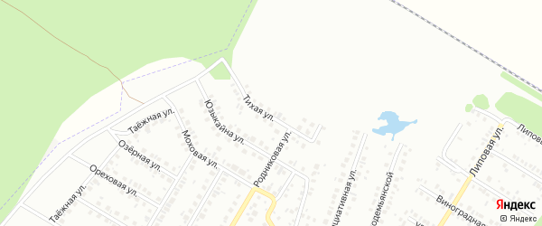 Тихая улица на карте Нефтекамска с номерами домов